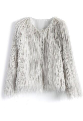 coat faux fur outerwear faux fur coat