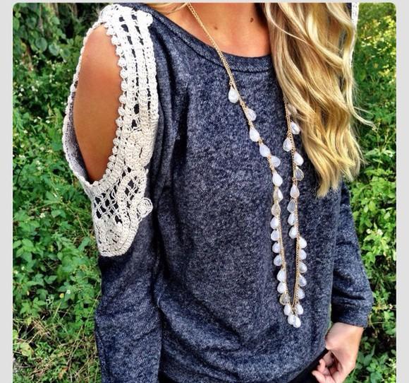 lace lace shirt