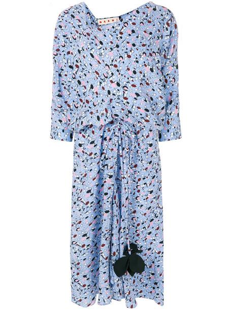 MARNI dress print dress women print blue silk