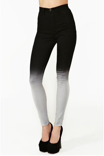 Images of High Waisted Black Skinny Jeans - Klarosa