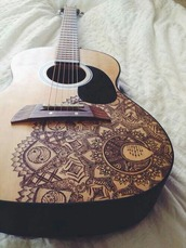 home accessory,guitar,brown,drawings,pretty,music,guitars,guitar pick,guitare,guitar picks,boho