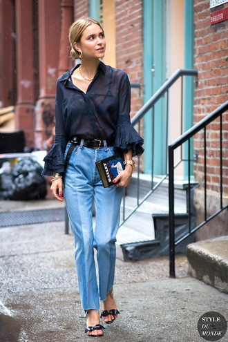 le fashion blogger jewels blouse jeans shoes bag