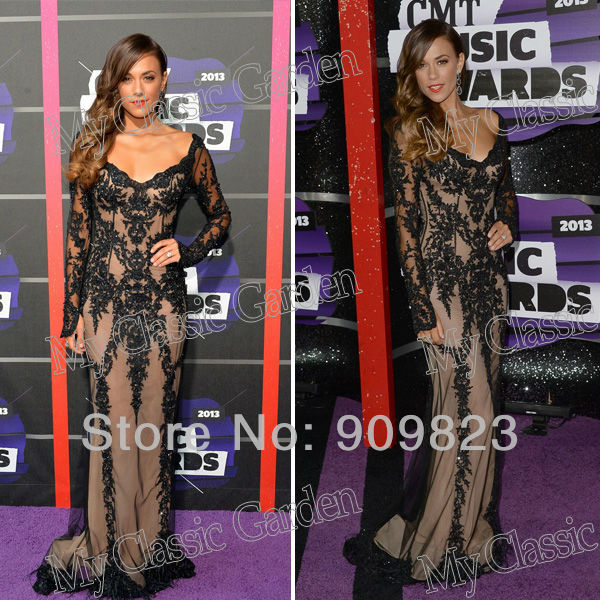 Aliexpress.com : buy 2013 jana kramer v nec long sleeves black lace mermaid elegant evening celebrity dresses 2013 from reliable lace chiffon dress suppliers on my classic garden
