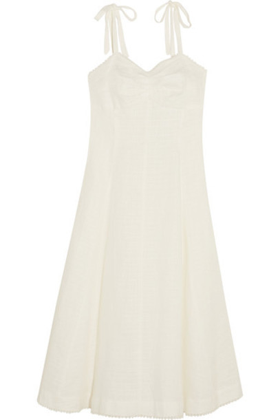 Miguelina dress midi dress midi white cotton