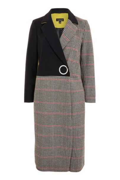 Topshop coat navy blue