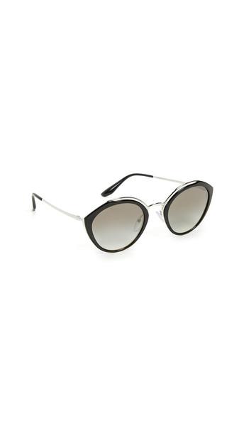 Prada Oval Sunglasses in grey / silver