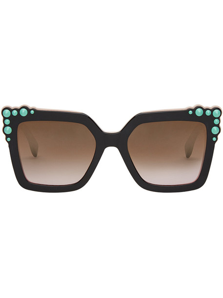 Fendi Eyewear women plastic sunglasses black