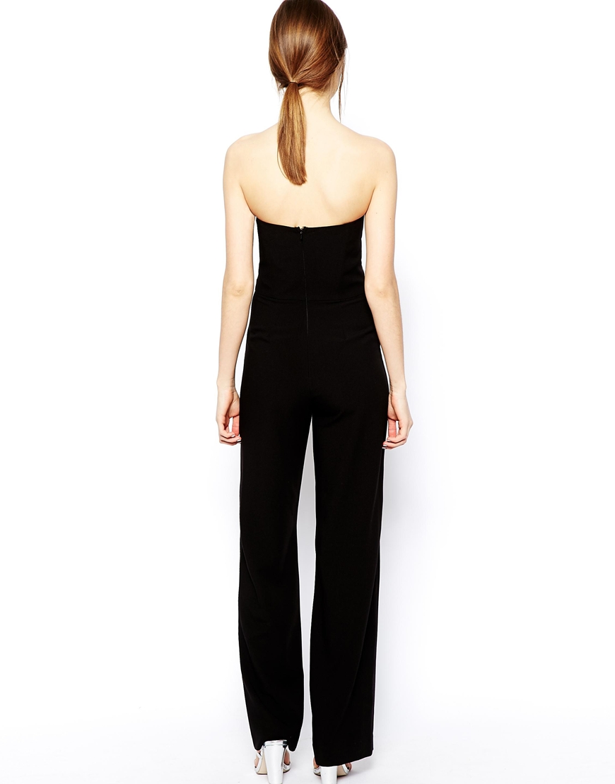 ASOS Jumpsuit in Bandeau with Wide leg at asos.com