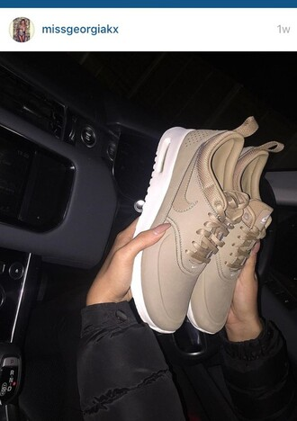 shoes towie beige nike georgia nude sneakers low top sneakers