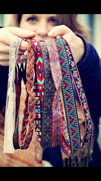headband hair accessories tribal pattern