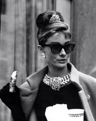 vintage classy sunglasses girly big sunglasses cat eye audrey hepburn