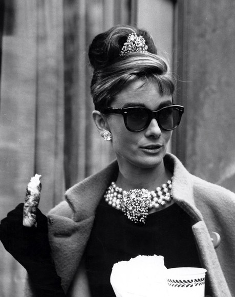 audrey hepburn vintage sunglasses girly classy big sunglasses cat eye