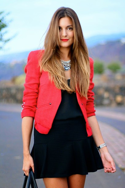 marilyn's closet blog blogger jacket blouse jewels bag