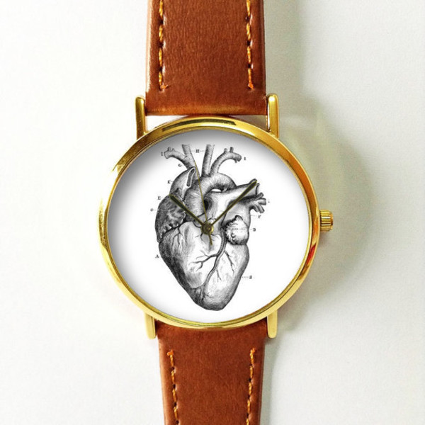 Jewels Heart Human Anatomy Heart Anatomy Watch Watch Handmade