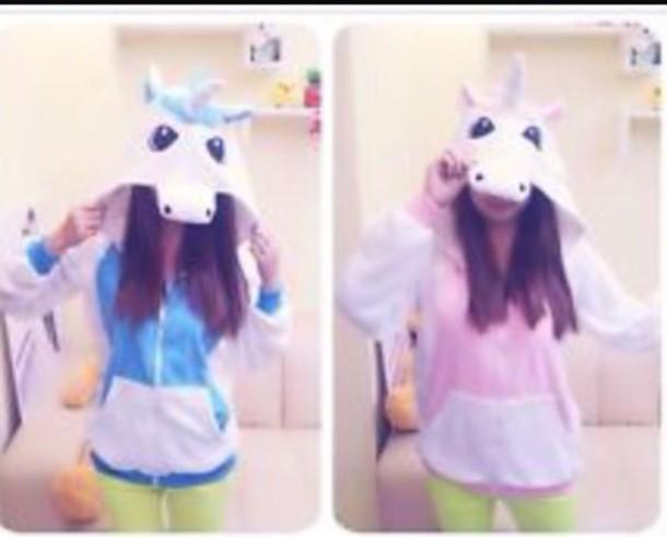 sweater unicorn pink sweater blue sweater hoodie hoodie unicorn sweet blue hoodie pink hoodie colorful colorful