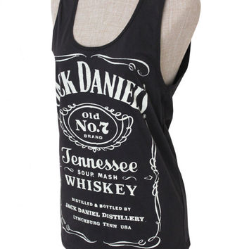 Brand new Women Jack Daniels Summer tank top tee t-shirt black  ... S-M-L Size on Wanelo