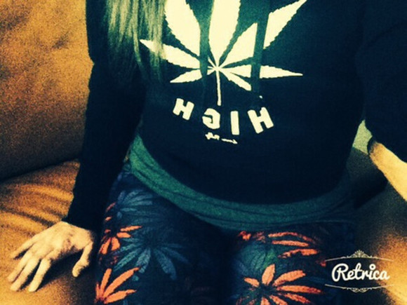 black sweater dope hight cannabis weed