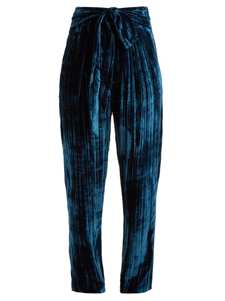 MASSCOB velvet blue pants