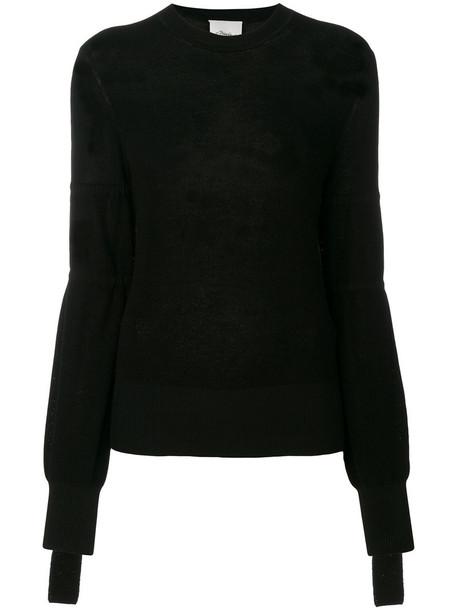3.1 Phillip Lim pullover women spandex lace black wool sweater