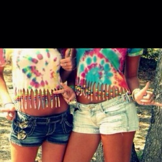 tank top tie dye crop tops beaded