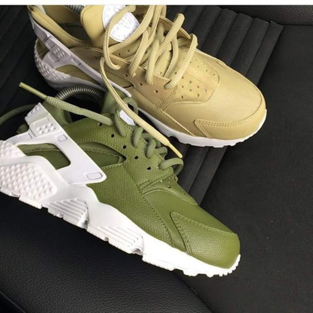 Shoes Nike Sneakers Nike Huarache Green Sneakers Nike Haraches Nike Hurraches Trainers