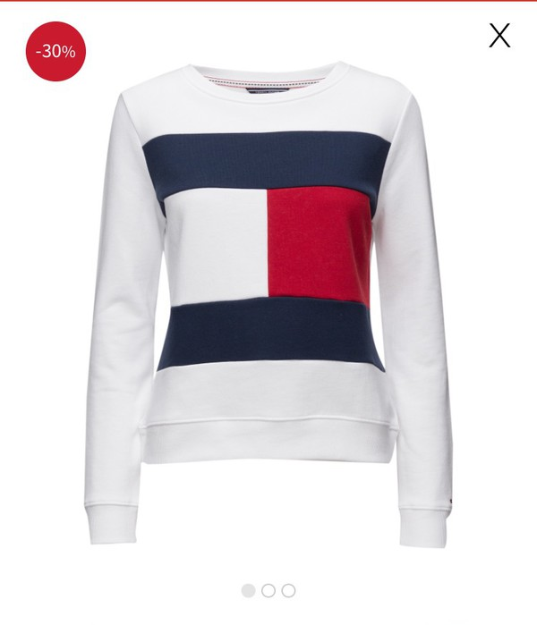UO Exclusive Tommy Jeans White Crew Neck Sweatshirt - Urban Outfitters 94b361beef