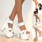 Womens chunky demi wedge platform peep toe high heel ankle strap shoes sandals | ebay
