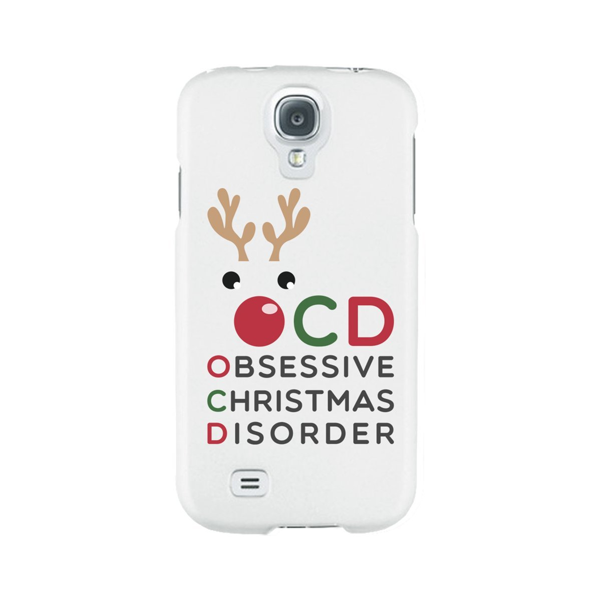 87f03683be Amazon.com: Cute Obsessive Christmas Disorder Rudolph phone case for iphone  4, iphone 5, iphone 5C, iphone 6, iphone 6 plus, Galaxy S4, Galaxy S5, ...