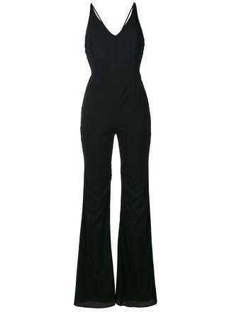 jumpsuit women spandex black silk