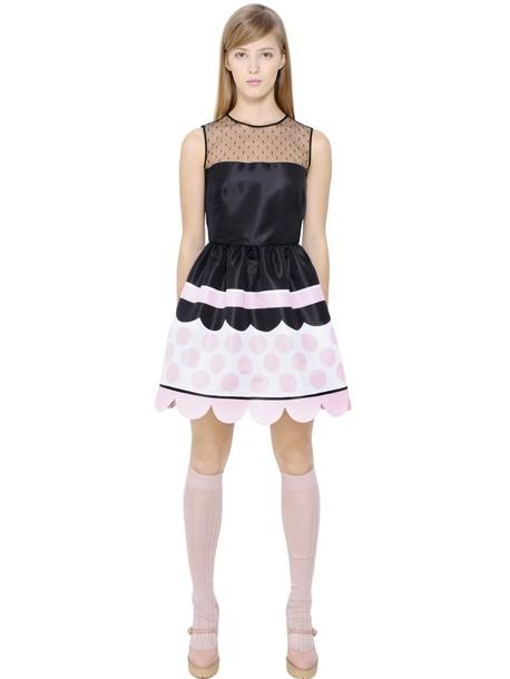 RED VALENTINO dress tulle dress black pink