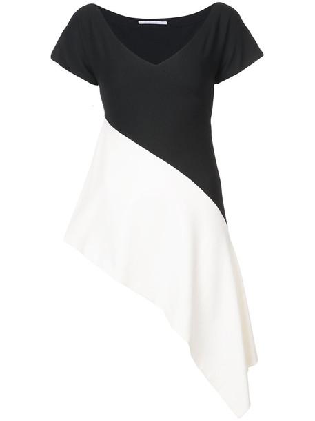 Rosetta Getty - wide neck asymmetric top - women - Viscose/Spandex/Elastane - M, Black, Viscose/Spandex/Elastane