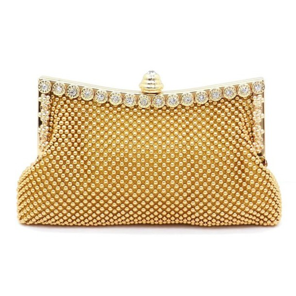 bag evening bag crystal purse embellished clutch cluthc gold clutch gold gold beaded purse bridal purse purse gold mesh clutch statement  clutch beaded purse beaded  clutch gold accessories party clutch
