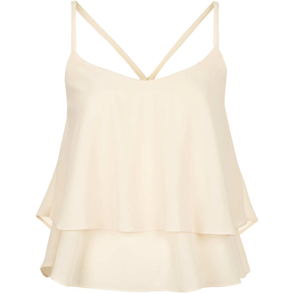 **Maya Chiffon Layered Cami Top by Goldie - Polyvore