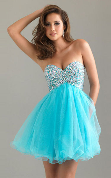 Strapless Short Aqua Tulle Skirt by Night Moves 6487 [Aqua Tulle Skirt Night Moves 6487] - $122.00 : Fashion Cheap Homecoming Dresses for Girls at homecomingdressesfashion.com