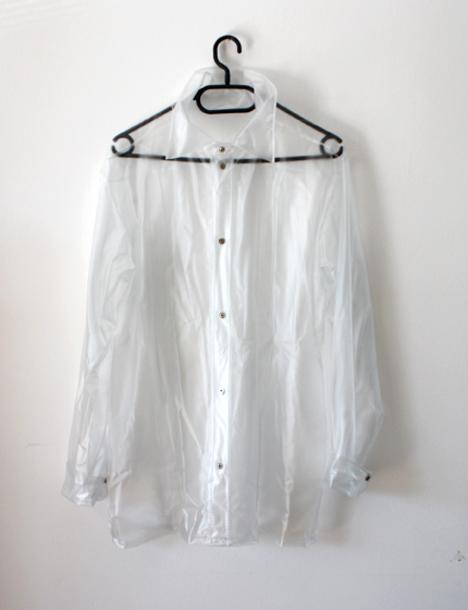 Clear Plastic Vinyl Patio Curtains Walls: Shirt, Clear Plastic Button Up Shirt, Plastic Clothes