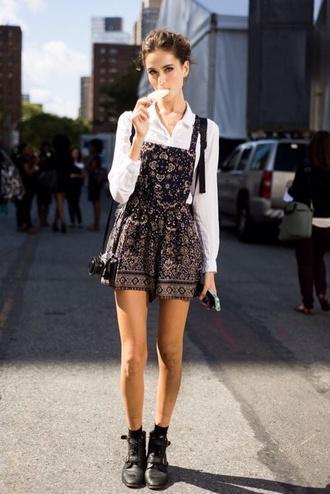 dress pinafore dress romper shirt blouse