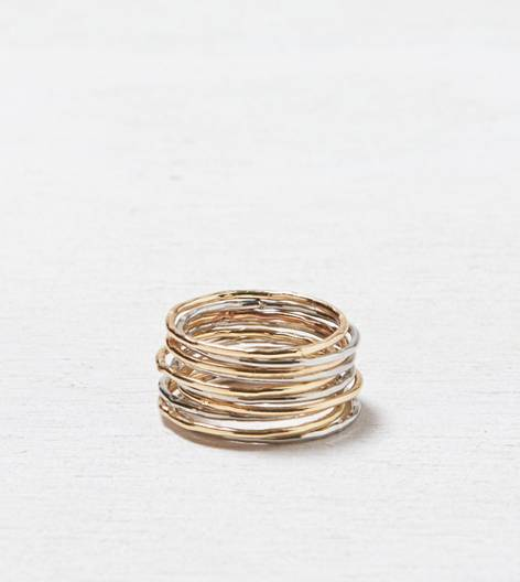 AEO Stacking Ring Set, Mixed Metal | American Eagle Outfitters