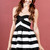 Special Occasion Stripe Mini Dress - Black | Obsezz