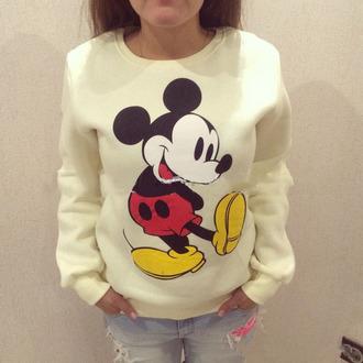 sweater mickey mouse hipster top coat winter sweater sportswear sweatpants windbreaker cool cotton sexy