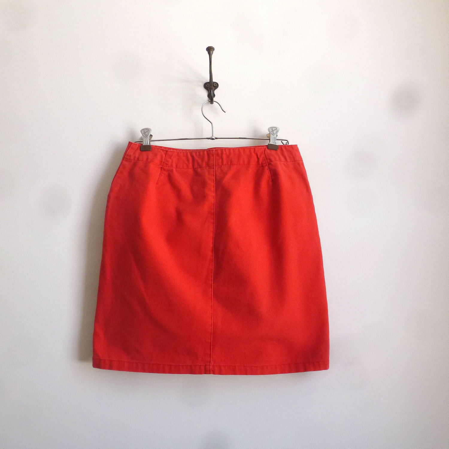 90s red tommy hilfiger mini skirt