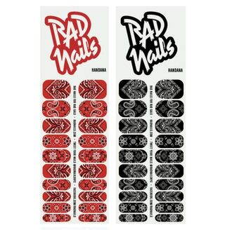 bandana print paisley red black nail stickers nail polish