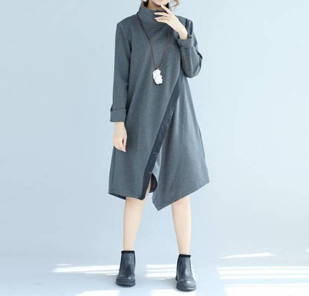 dress cotton pullover dress gray dresses