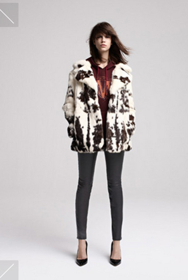 coat fashion lookbook maje shoes sweater