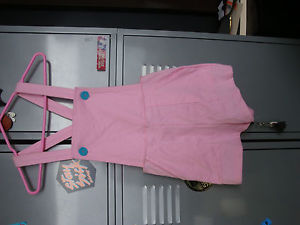 American Apparel Pink Overalls Size Small | eBay