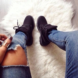 shoes black timberlands