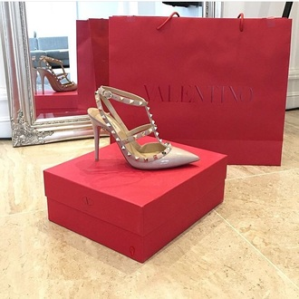 shoes valentino valentino rockstud high heels