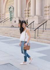 skirttherules,blogger,top,jeans,bag,jewels,espadrilles,shoulder bag,summer outfits