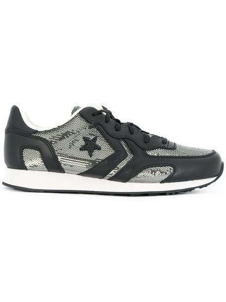 Converse - low-top sequin sneakers - women - Cotton/Leather/Sequin/rubber - 38, Black, Cotton/Leather/Sequin/rubber