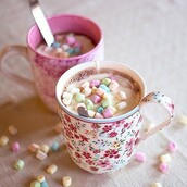 home accessory,mug,cup,tea,mashmallows,floral,flowers,nice,lovely,tea time,yummy,hot chocolate,marshmallows,liberty