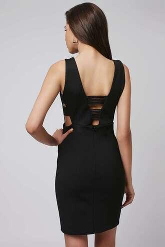 dress backless little black dress
